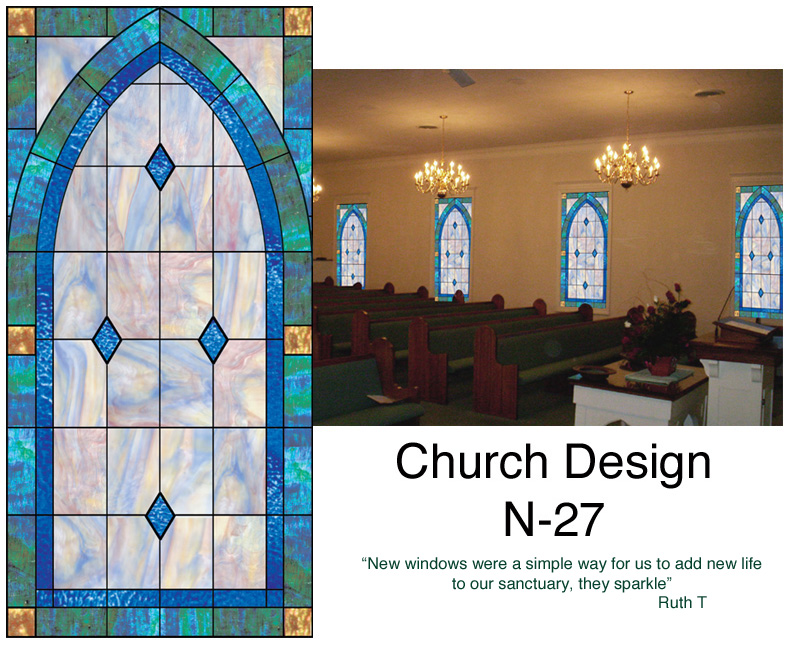 Church Stained Glass Window N 27