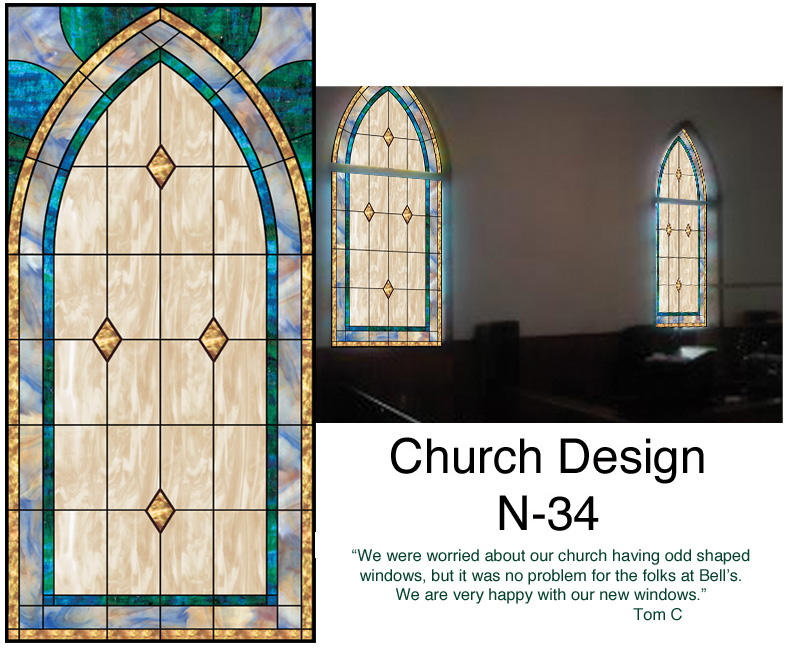 Church Stained Glass Window N 34