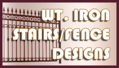 wrought iron stairs and wrought iron gates