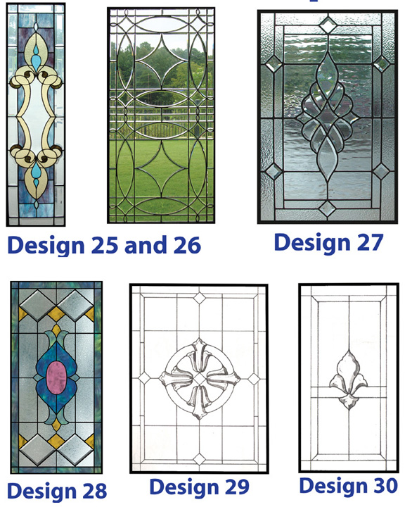 Stained and leaded glass windows for your home from bell for Simple window designs for homes